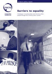 Barriers to equality text - Nacro
