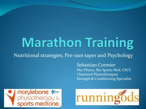 Marathon Running - Race Psychology and Taper (pdf)