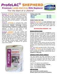 ProfeLAC ® SHEPHERD Premium Lamb-Kid-Cria Milk ... - Agsure