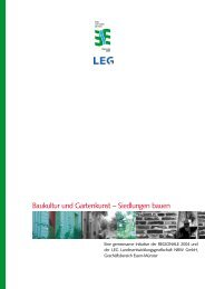 Baukultur und Gartenkunst – Siedlungen bauen - Regionale 2004