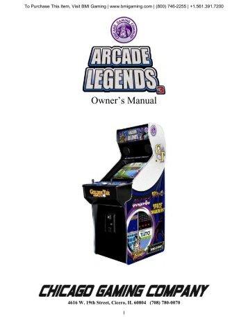 Arcade Legends 3 Manual - BMI Gaming
