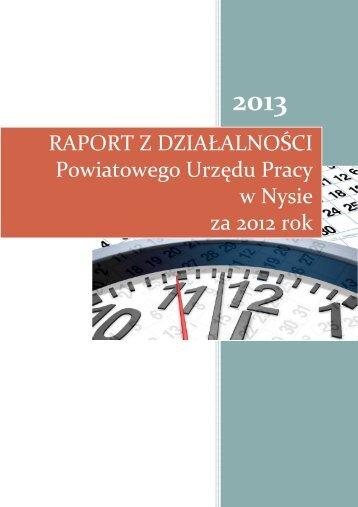 Raport .... - Powiatowy Urząd Pracy w Nysie