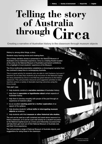 Telling the story of Australia through Circa (PDF 1.3 MB) - National ...