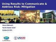 Mitigation - VinAWARE - Pacific Disaster Center