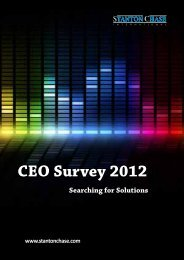 CEO Survey 2012 - Searching for Solutions - Stanton Chase