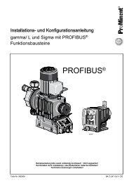 gamma/ L und Sigma SxCa mit PROFIBUS - ProMinent