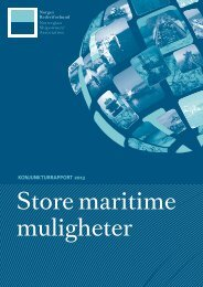 Konjunkturrapporten 2013: Store maritime muligheter - Norges ...