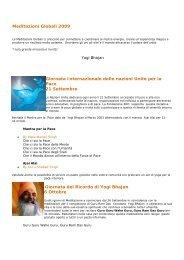 Meditazioni Globali 2009 Giornata Internazionale ... - IKYTA ITALIA