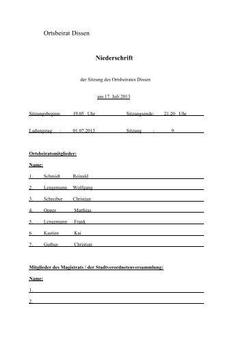 Protokoll zur konstituierenden Sitzung des ... - 1stcellmedia.de