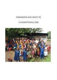 ZIMBABWEN AIDS-ORVOT RY VUOSIKERTOMUS 2008