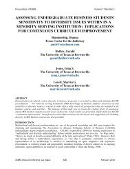 sensitivity to diversity issues within in a minority serving ... - Asbbs.org
