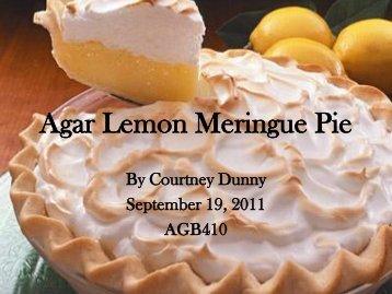 Agar Lemon Meringue Pie. - International Algae Competition
