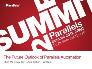 The Future Outlook of Parallels Automation