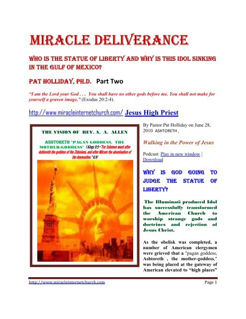 Miracle deliverance - Remnant Radio Home Page