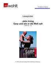 Leseprobe: John Irving Garp und wie er die Welt sah - Fuxx-online.de