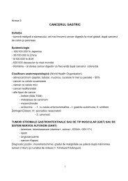 Protocol de diagnostic si tratament cancer gastric - Spitalul Clinic ...