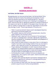 National Water Policy - Ministry of Water Resources