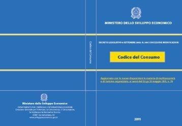 Codice del Consumo - Corecom Lazio