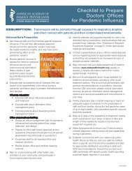 Checklist to Prepare Doctors' Offices for Pandemic Influenza