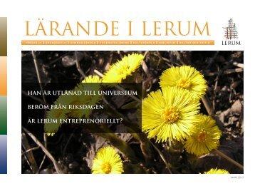 LÄRANDE I LERUM - Lerums Kommun