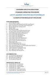 lausanne executive education standard operating procedure list of ...