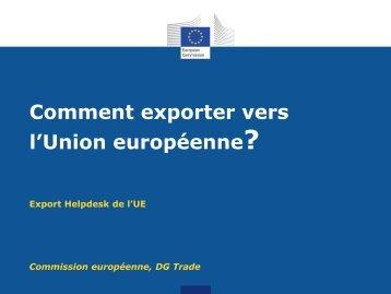 Les droits à l'importation - Europa