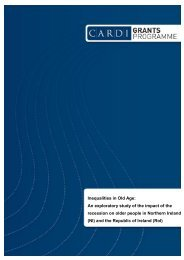 Inequalities in Old Age: An exploratory study of the impact ... - CARDI