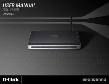 D-Link DSL-2640B Manual