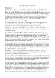 PLAN D'ACTION UE/ISRAËL 1. Introduction L'élargissement de l ...