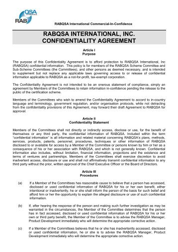 Government Confidentiality Agreement Images  Agreement Letter Format