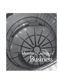 Mendoza College of Business - Registrar - University of Notre Dame