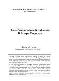 Cara Pemerintahan di Indonesia - Asian Development Bank Institute
