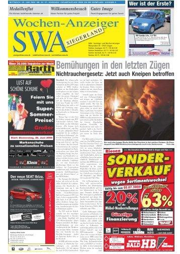 Ausgabe A, Siegen, Wilnsdorf (8.79 MB) - Siegerländer Wochen ...