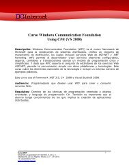 Curso Windows Communication Foundation Using C# ... - DCInternet