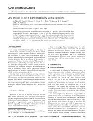 RAPID COMMUNICATIONS Low-energy electron-beam lithography ...