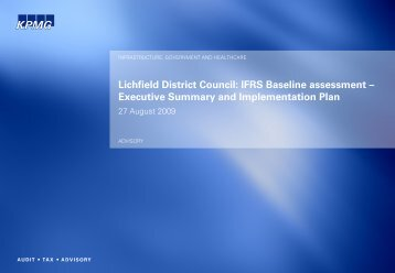 KPMG Full Page Talkbook Template - Lichfield District Council