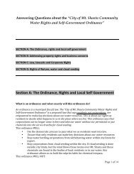 The Ordinance, Rights and Local Self Government - Global Exchange