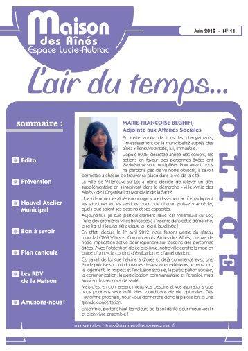 n° 11 Juin 2012 - Villeneuve sur Lot