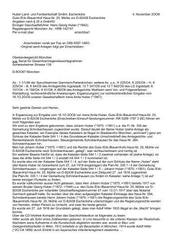 der Huber Land- und Forstwirtschaft GmbH, Eschenlohe