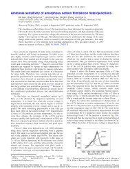 Ammonia sensitivity of amorphous carbon film/silicon heterojunctions