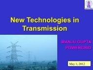 New Technologies in Transmission - NPTI