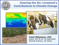 Clearing the Air: Livestock's Contributions to Climate Change
