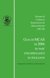 MCAS - Massachusetts Department of Elementary and Secondary ...
