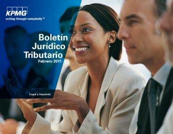 Boletín Jurídico Tributario Febrero - cpzulia.org