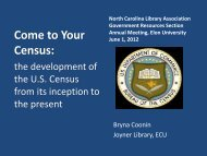 What is a census? - North Carolina Library Association