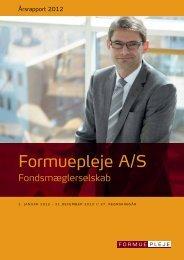 Årsrapport 2012 - Formuepleje