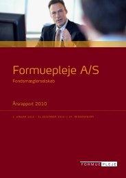 Årsrapport 2010 - Formuepleje