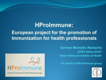 HproImmune: European project for the promotion of immunization ...