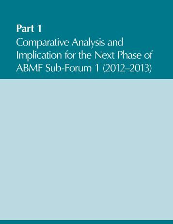 Part 1 Comparative Analysis and Implication for the Next Phase of ...