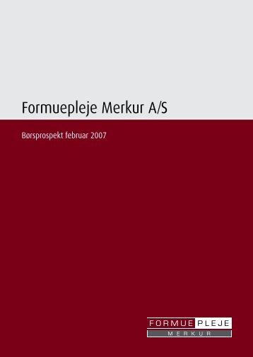 Formuepleje Merkur A/S